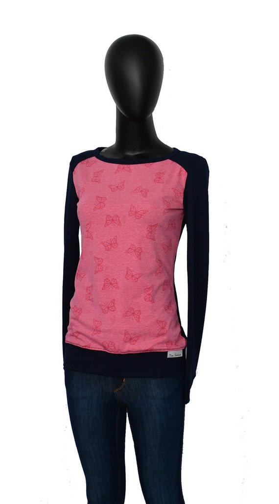 rose women Blue Iza Longsleeve blue 11 navy rose Designer blue Ladies melange shirt old Ladies Fabian CAX qPqfwOSB4