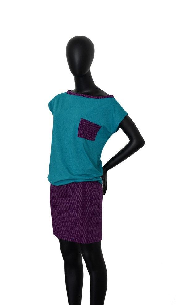 eggplant points women petrol Fabian Dots dress Dress dots FX24 Iza Women FZfx6qCwnq