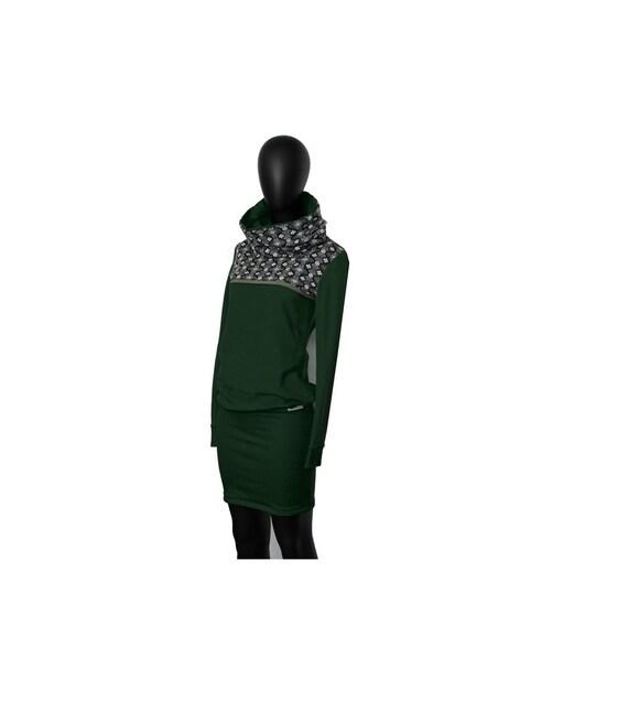 black 10 Hoodie green dress Retro sweat ho n7nPXtZ