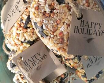 100 Natural, Vegan, Handmade Hanging Bird Seed Favours