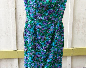 Victoria Royal LTD Vintage Beaded Tiered Summer Dress Size 8