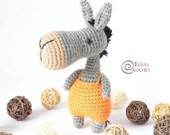 Toy patterns: Pedro the Donkey Amigurumi | 270x340