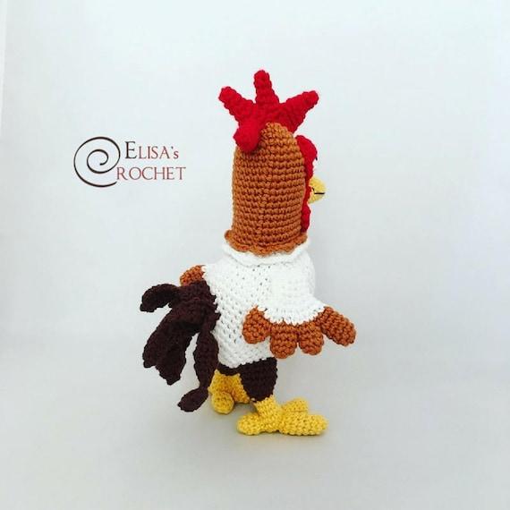 CROCHET PATTERN Rooster Amigurumi doll / Chicken / Gallo /   Etsy
