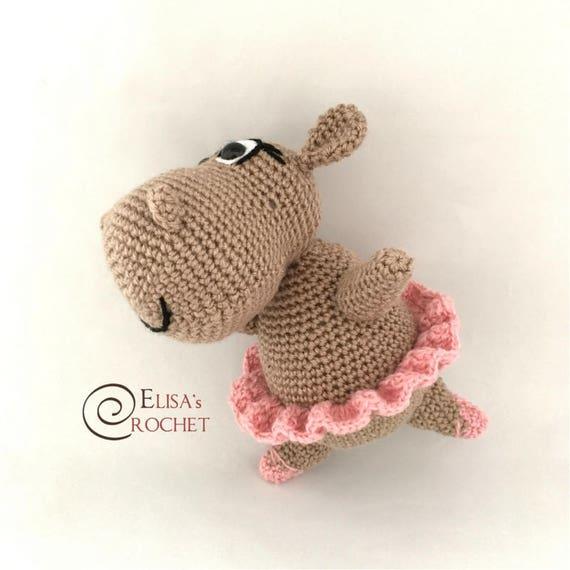 AndreaDanielle's Ballerina Hippo Amigurumi   Hippo crafts, Crochet ...   570x570