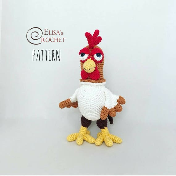 CROCHET PATTERN Rooster Amigurumi doll / Chicken / Gallo / | Etsy