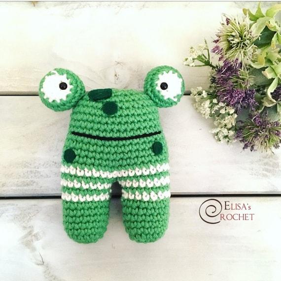 Häkeln Amigurumi Frosch Rassel Spielzeug Baby Geschenk Bio Etsy