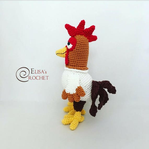 CROCHET PATTERN Rooster Amigurumi doll / Chicken / Gallo / | Etsy