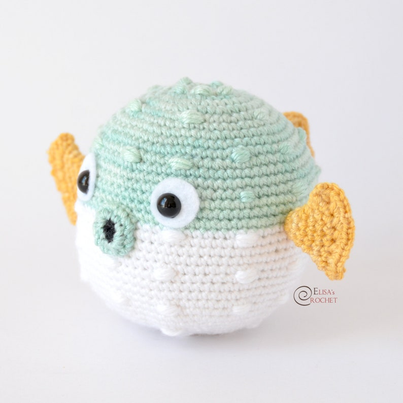 CROCHET PATTERN  CARRIE the Blowfish Amigurumi / Stuffed Doll image 0