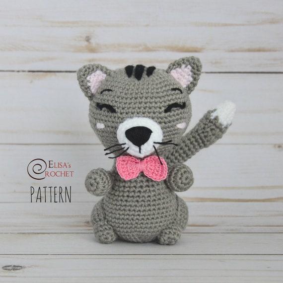 Crochet Pattern Cat Amigurumi Doll Kitten Stuffed Doll Etsy