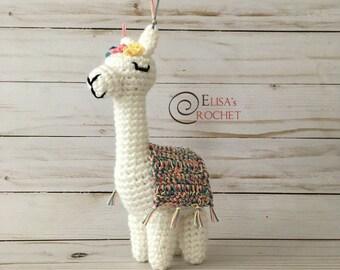 CROCHET PATTERN - VIOLET the Alpaca Amigurumi doll / Stuffed Doll / Easy Instructions / Handmade Plushie - pdf only