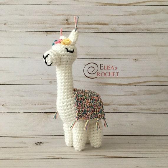 Crochet Pattern Violet The Alpaca Amigurumi Doll Stuffed Etsy
