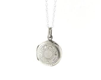 Sterling Silver Circle Locket