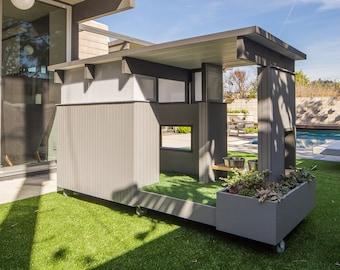 Modern Dog House. Beam House-Eichler Inspired