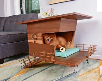 Modern Dog House Side Table - Dog Tower 9