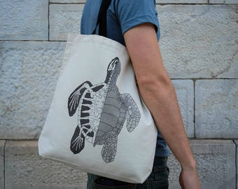Anatomy of the Turtle    Tote Bag    100% Recycled Cotton
