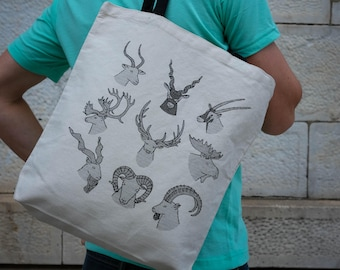ANTLERS & HORNS    Tote Bag    100% Recycled Cotton