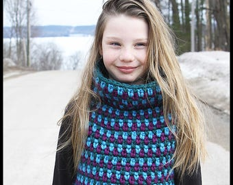 Crochet Pattern Pullover - Totally Tubular Pullover/ Pattern  #85. 7 Sizes from 1 year to 16 years - Instant PDF Download