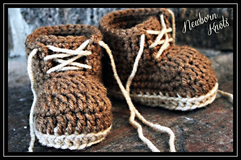 8b951bad5ba40 Crochet Baby Booties Pattern - Boys or Girls Baby Work Booties/ Pattern  number 011. Instant PDF Download - Includes 3 sizes up to 1 year.