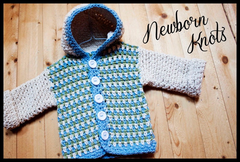 d5b613b18 CROCHET PATTERN Baby Sweater Baby Boy or Girl Sweater with