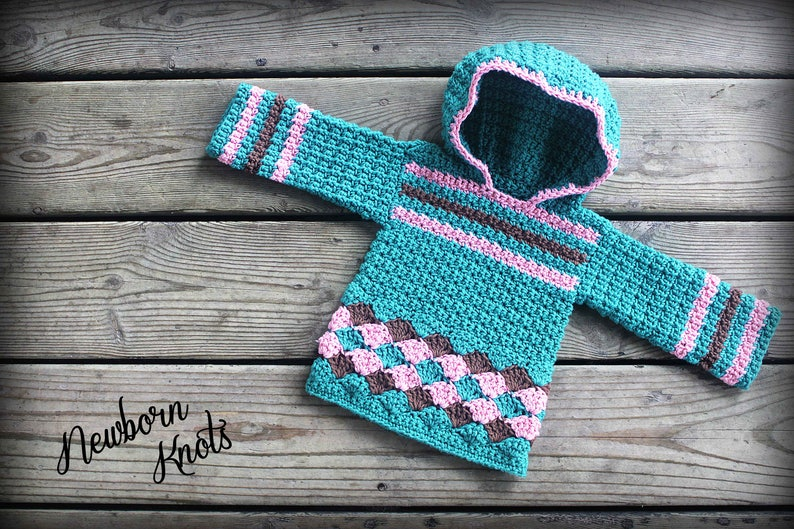 5d3b97a68 Crochet Baby Sweater Pattern Baby Boy or Girl Pullover