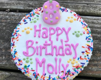 Dog Birthday Cake//Homemade Gourmet  Birthday Cake for Dogs