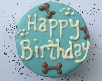 Dog Birthday Cake//Homemade Gourmet Blue Birthday Cake for Dogs