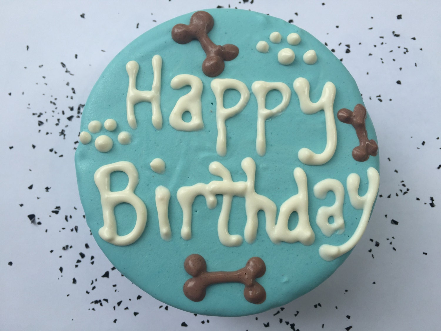 Dog Birthday Cake Homemade Gourmet Blue For