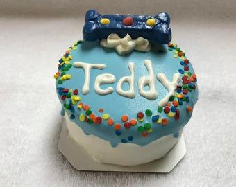 Dog Treats//Soft Homemade Birthday Cake for Dogs