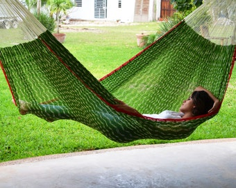 Nopales Mayan hammock. Mayan handcraft inspired on one of the most representatives vegetables of Mexico.