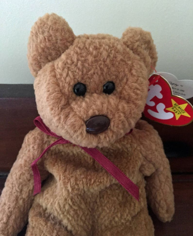 dc85dafaeda Ty Beanie Babies Curly Brown Bear Beanie Baby Collectible