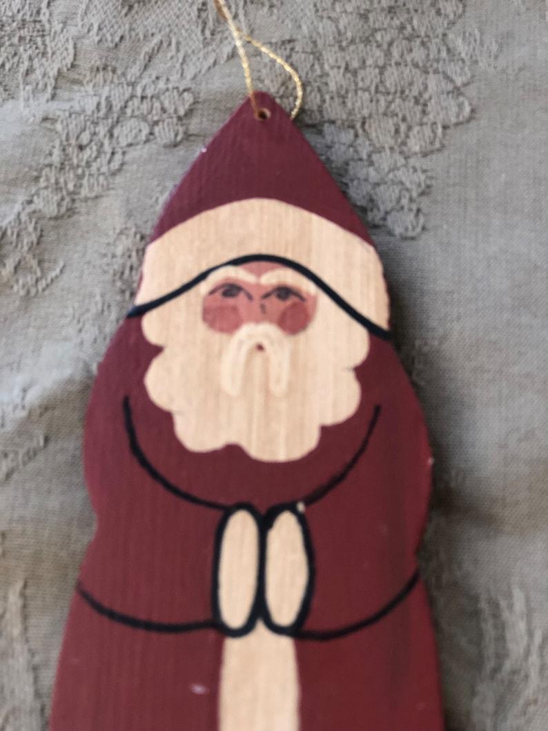 Santa Collection Vintage Artisan Made Christmas Santa Ornament Vintage Gift Holiday Decor Interior Design CountryChristmas Shabby Chic