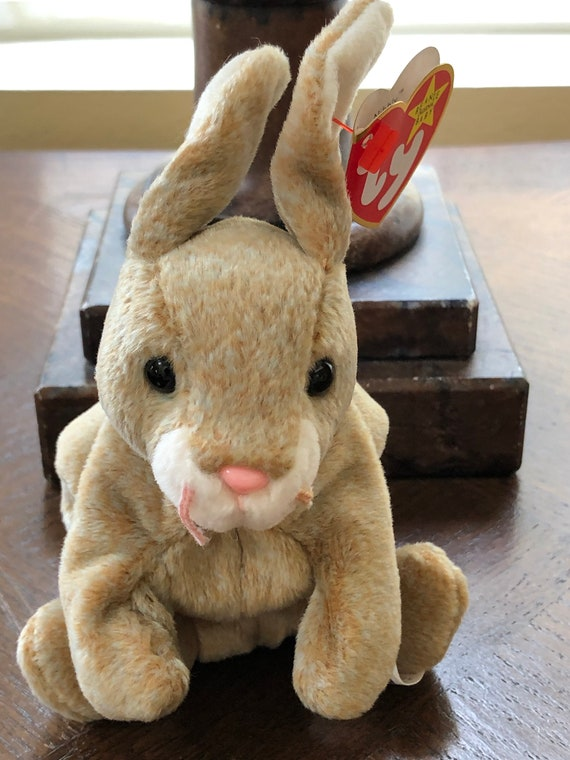 f6e39d8b44f Ty Beanie Babies Bunny Nibbly Brown Rabbit Collectible