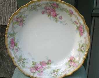 Antique Pouyat Limoges Berry Bowl, Sauce Bowl, Delicate Floral, Tea Party, Garden Party, Shabby Chic, Antique Gift, French Country, Gift
