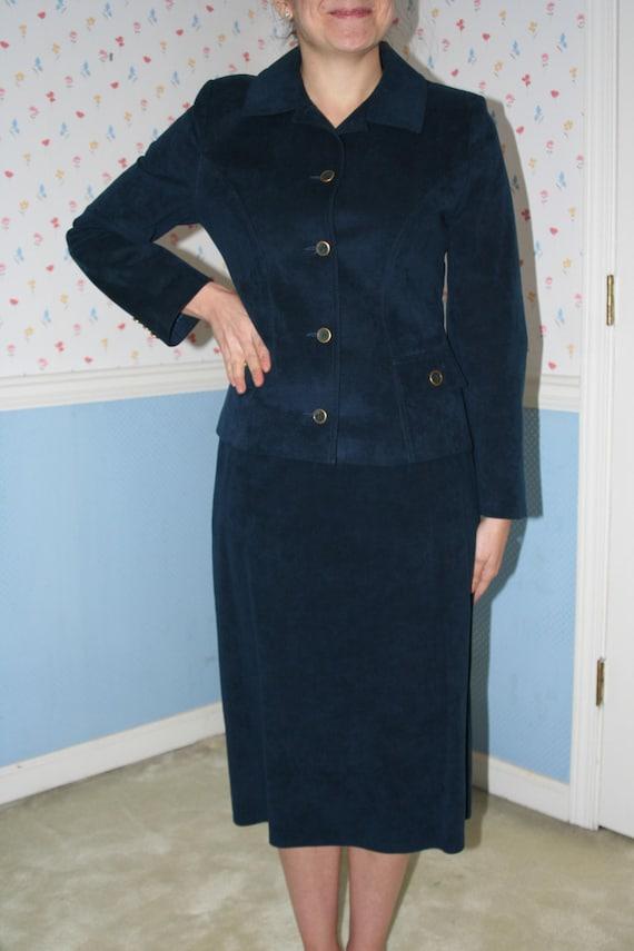 Blue Ultra Suede Suit - image 1