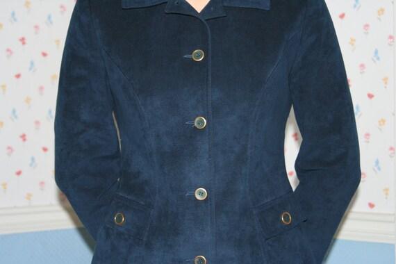 Blue Ultra Suede Suit - image 4