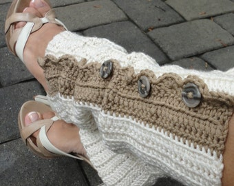 Fun, Trendy Cream Leg Warmers