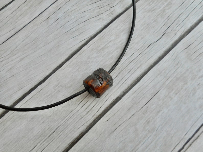 Dirty look Brown leather tribal necklace boho style fashion image 0