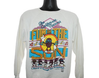40b088c90ea 1987 The California Raisins Fun In The Sun Vintage I Heard It Through The  Grapevine 80 s Pop Culture TV Claymation Cartoon Promo Sweatshirt