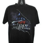 1998 I STILL Know What You Did Last Summer Vintage Someone Is Dying For A Second Chance 90's Pop Culture Horror Movie Sequel Promo T-Shirt