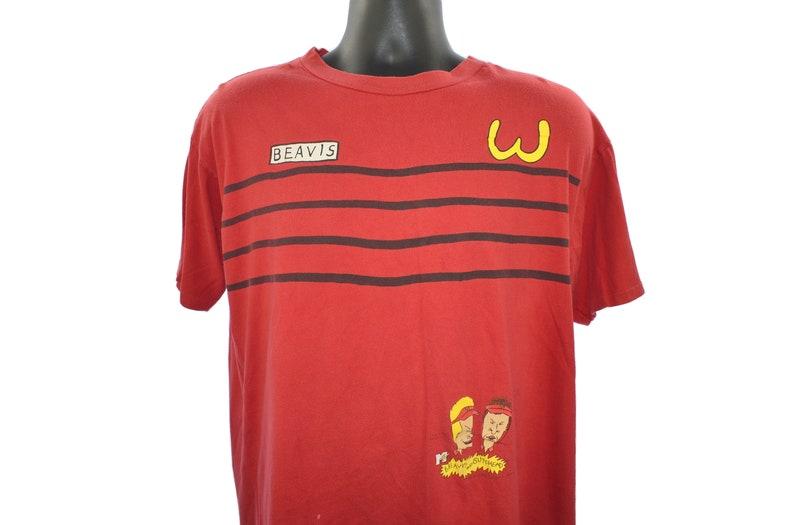 1993 BEAVIS Vintage Burger World Uniform Classic 90s Grunge image 0