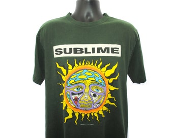 Vintage 00's 02 Sublime 40 Forty Oz to Freedom sun logo ska punk rock and n roll band tour graphic tee t-shirt shirt - Size L 16gMkrxOWE