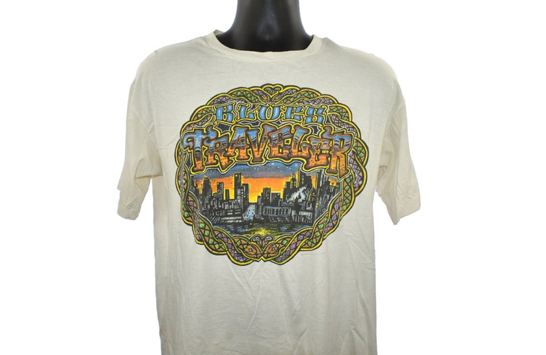 1995 BLUES TRAVELER Vintage Run-Around Era Brockum Brand FOUR image 0