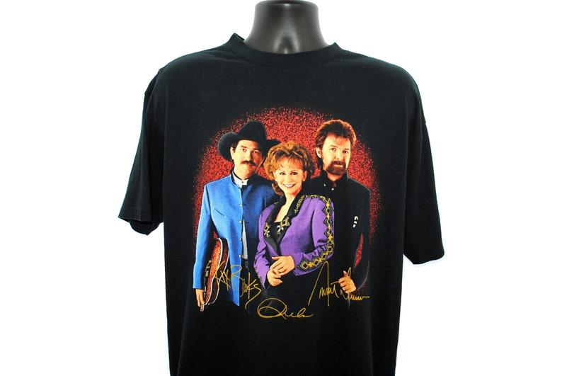 9e92efa28 1997 Reba McEntire + Brooks and Dunn Vintage If You See Him // If You See  Her Era Classic 90s Country Music Super Tour Concert Promo T-Shirt