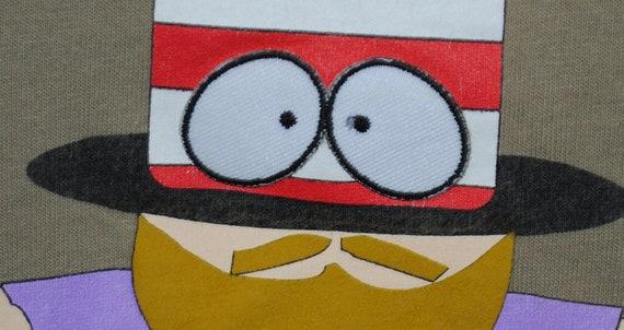 1998 M. chapeau Vintage vous allez en enfer, vous vous vous allez en enfer et vous Die South Park S1 + E1 Cartman obtient une sonde Anal dessin animé classique Promo T-Shirt 12a108