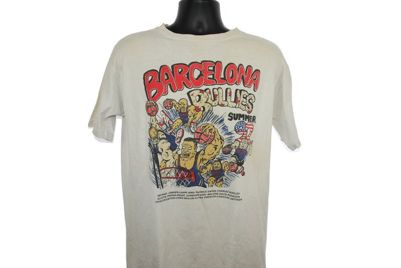 66d67b06493442 1992 Barcelona Bullies Vintage The Dream Team Classic 90 s