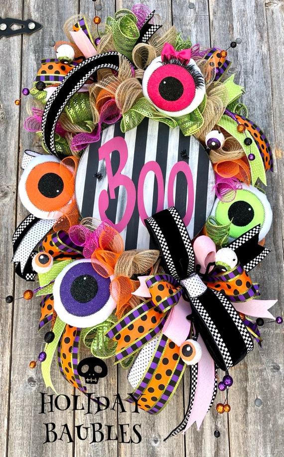 Halloween Wreath, Halloween Fun Wreath, Halloween Decor, Happy Halloween Wreath, Boo Wreath, Halloween Fun Wreath