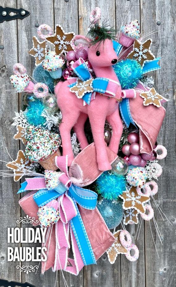 Christmas Wreath, Christmas Sweets Wreath, Sweets Wreath, Whimsical Christmas Wreath, Reindeer Wreath, Christmas Decor