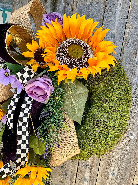 Sunflower Wreath, Summer Sunflower Wreath, Summer Wreath ...