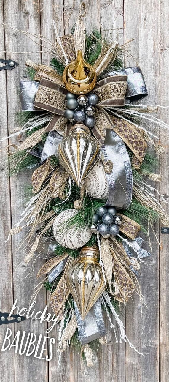 Christmas Wreath, Deluxe Christmas Swag, Deluxe Christmas Wreath, Elegant Christmas Wreath, Wreath, Christmas Glam Wreath, Christmas Decor