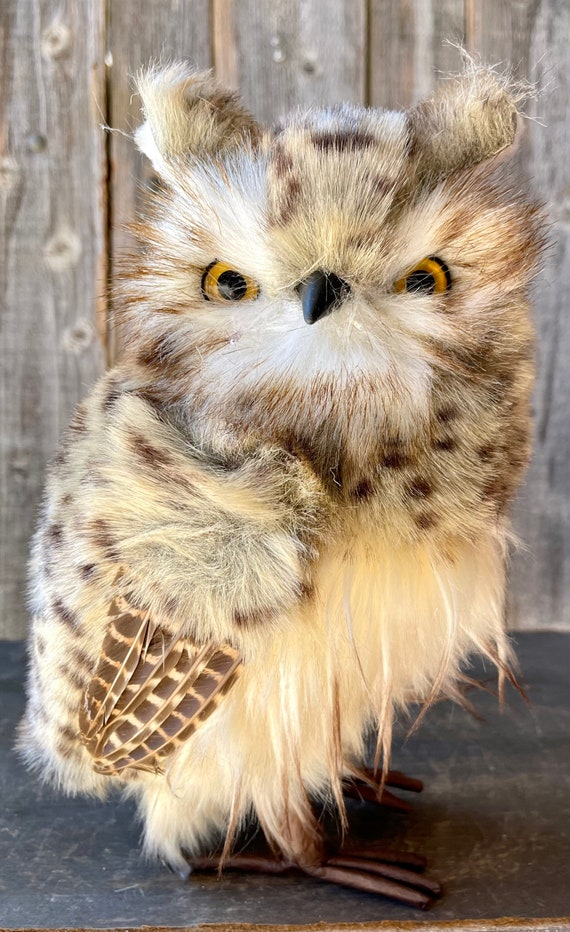 Christmas Owl, Snowy Christmas Owl, Christmas Decor, Owl Decor